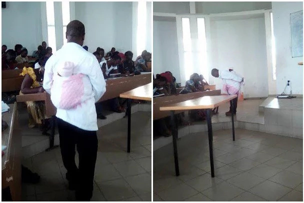 Ivory Coast professor babysits for his student