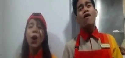 These Jollibee employees are singing their hearts out! So amazing!