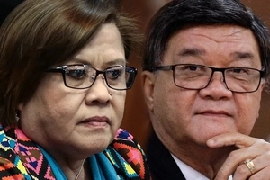 Hindi na tuloy! Aguirre won't show De Lima's controversial sex video in Senate probe