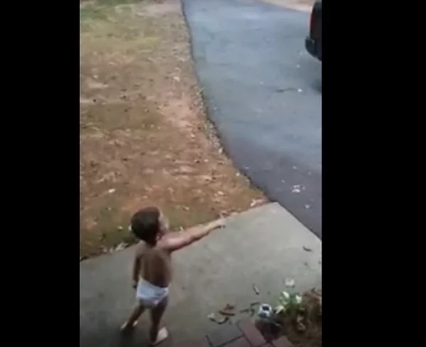 Little boy keeps insisting that he loves his father very, very much