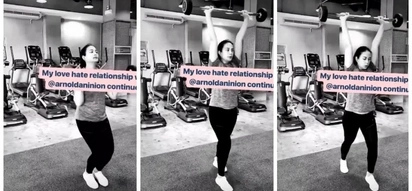 Taray ni buntis! Isabelle Daza does weightlifting exercise while pregnant