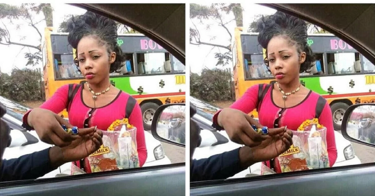 Kenyans on social media go bananas over this hot hawker