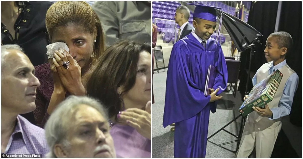Joy as boy, 14, becomes the youngest to graduate from his college