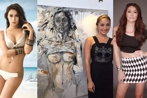 Maganda na talentado pa! Solenn Heussaff stands up for women empowerment through her exquisite painting of naked body