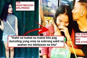 Heartbroken Pinay shared photos of her boyfriend flirting with another woman: 'tinapon mo yung 1 year & 3 months na relationship natin'