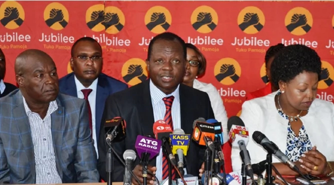 After mass defections from the party, Jubilee hit back with some STRONG statements