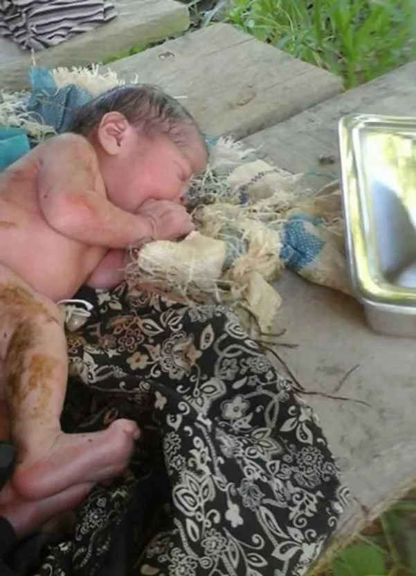 Mentally-impaired woman gives birth to her baby