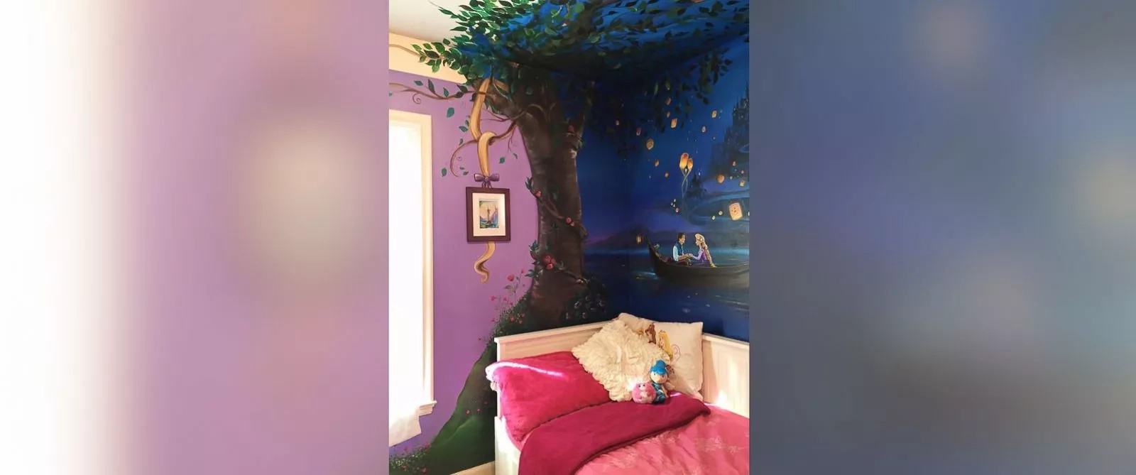 Mom Painting Mural Inspired By Pics On 8-Year-Old Daughter's Wall Is A True Beauty