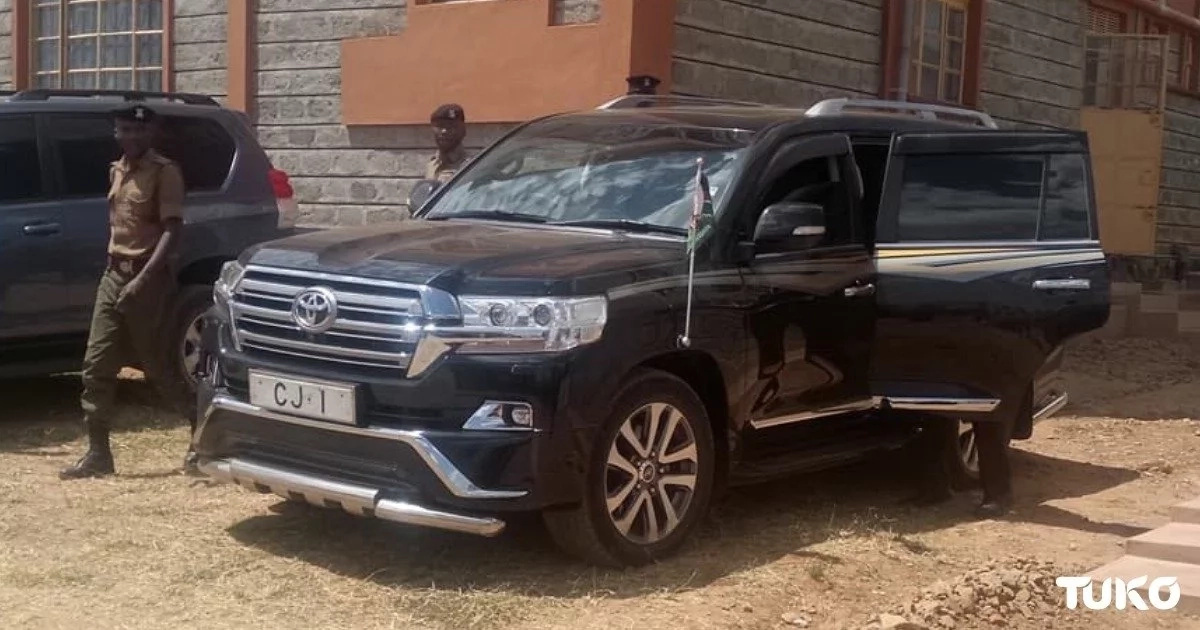 Chief Justice David Maraga's KSh 12 million official car that is turning heads in town
