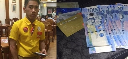Honest Pinoy restaurant waiter in Makati gives back lost P37K to grateful owner