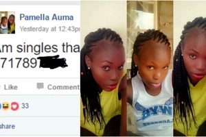Beautiful Kenyan lady advertises herself on Facebook. She did not expect what came next
