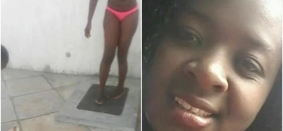 Drama as woman storms husband workplace in Nairobi and strips nak3d (Photos)