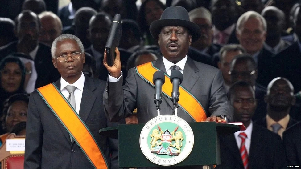 Raila s condolence message to former president and his late son's namesake