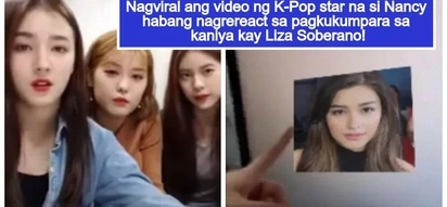 Sikat na rin sa Korea! Epic video of K-Pop star Nancy reacting to comparison to Liza Soberano