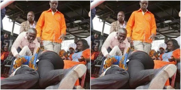 ODM politicians clobber each other silly infront of Raila