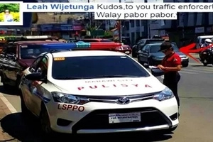 No one's above the law! This traffic enforcer in Iligan City went viral after issuing a ticket to a policeman for illegally parking on the highway