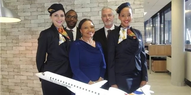 Mzimela (middle) launched her own airline in 2015. Photo: The Source