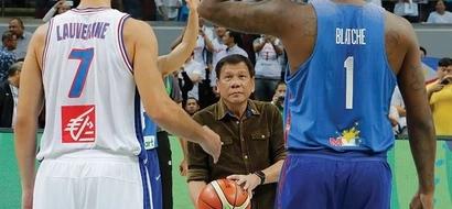 WATCH: Duterte impressively tosses ball during Gilas vs France