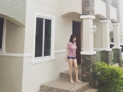 Excited Kim Domingo proudly shows off her soon-to-be completed home
