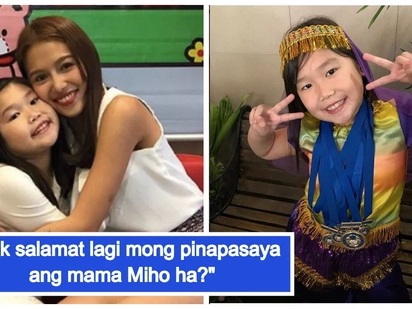 Wow hakot award! Miho Nishida's daughter Aimi is an overachiever in school