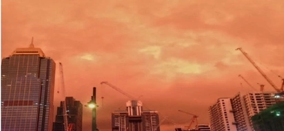 Orange sky over Luzon sparks awe and fear among Pinoys