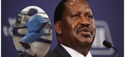 Raila Odinga beats Kenyan younglings as he hits the gym (Photos)