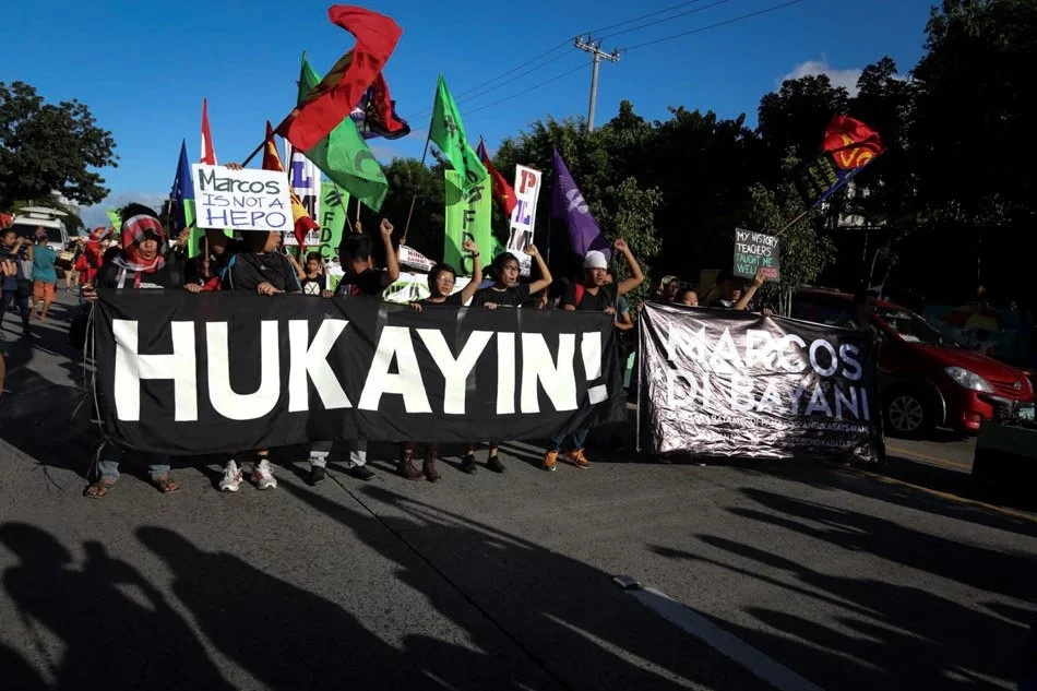 Protests against Marcos burial at LNMB joined by government officials