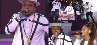 Proud Pinoy! Apl De Ap wears PH inspired earpiece and necklace in Manchester concert with Ariana Grande