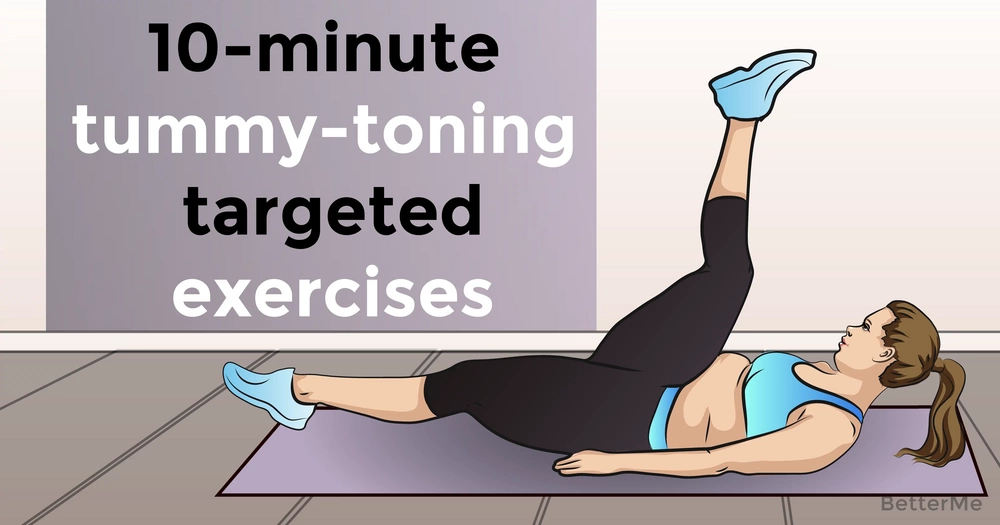 10-minute tummy-toning targeted exercises