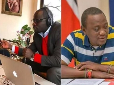 Raila wears 'similar T-shirt' to Uhuru's while going live on Facebook and Kenyans can't keep quiet (videos)