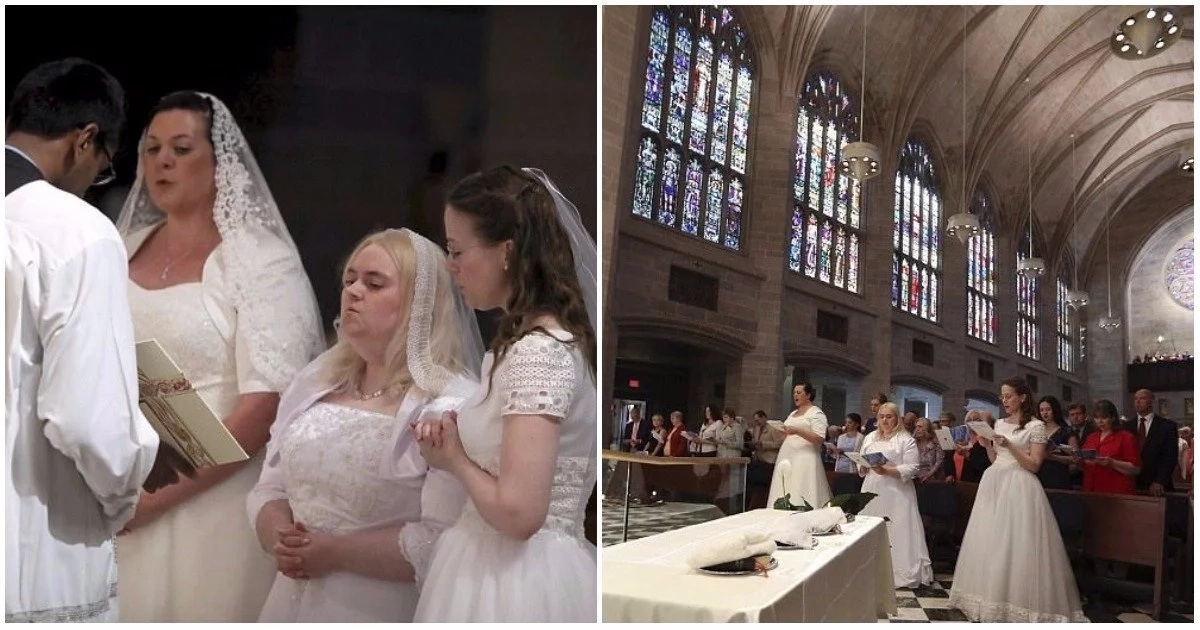 See why three women married 'Jesus' and pledged lifelong chastity (photos, video)