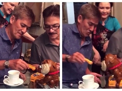 Look at Vic Sotto's epic reaction while playing a child's toy!