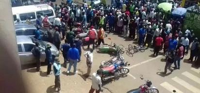 Mji wa Eldoret hauendeki baada ya vurugu kuzuka (PICHA,VIDEO)