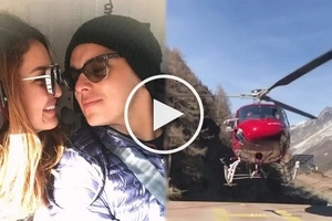 Ang sosyal! Sarah Lahbati and Richard Gutierrez ride a helicopter to tour Switzerland