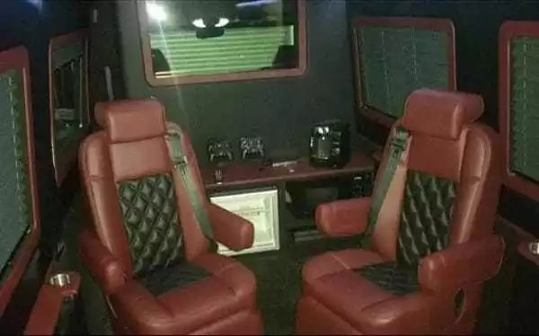 Inside the luxury, top-of-the-range van