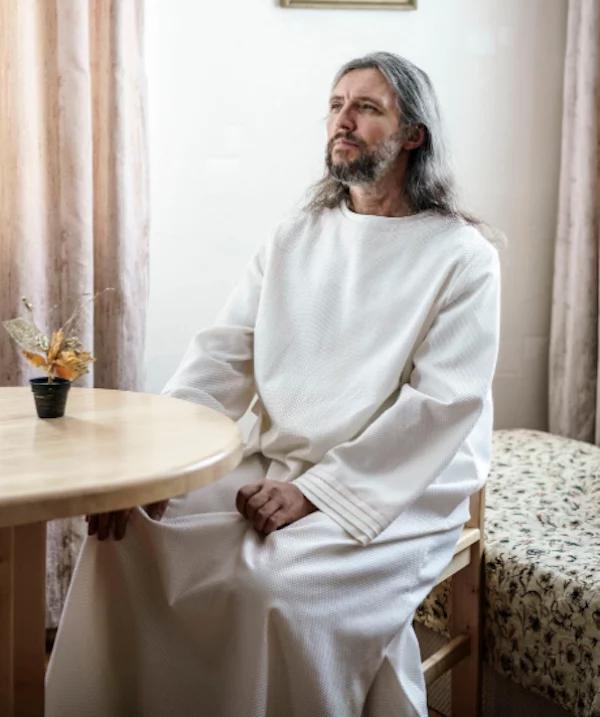 Vissarion, the Christ of Siberia. Photo: Telegraph/Jonas Bendiksen