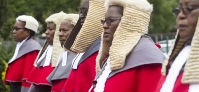 Judges in WIGS under fire for bringing back white people colonialism to Africa (photos)