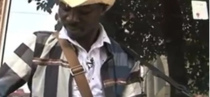 Unsung hero! School dropout entertains Nairobians with STREET MUSIC, some cry as they listen (photos, video)