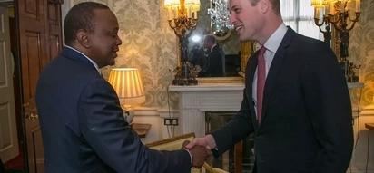 Prince William, Uhuru hold private talks during his UK visit