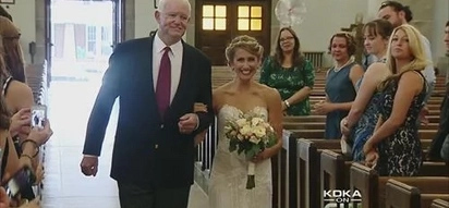 Bride gets walked down the aisle by a man who has her father's heart, their story will touch you!