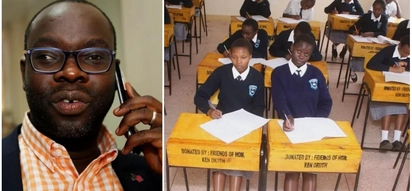 Kibra MP donates desks, chairs and books as he celebrates his 40th birthday