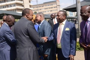 Where DP Ruto was when Sonko DECLARED himself president; it's not France (photos)