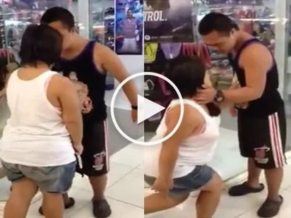 Sweet Pinoy couple with down syndrome gives mall-goers the ultimate #kiligfeels
