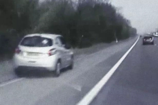 Video of how a policeman's wits and driving skills saved a mother and her baby