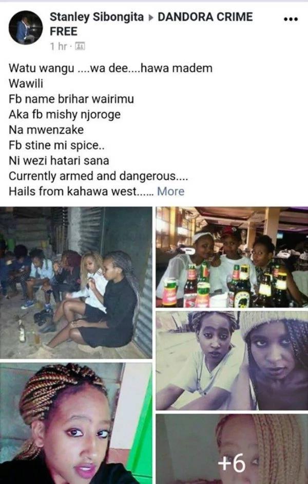 Photo of the dangerous female thugs terrorizing Nairobi residents