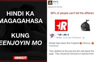 Enraged netizens slam RBreezy for posting foul statement on Facebook