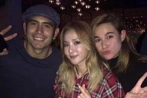 Ang pambansang krungkrung! Sandara Park pulls off the cutest third wheel with couple Gerald Anderson and Bea Alonzo