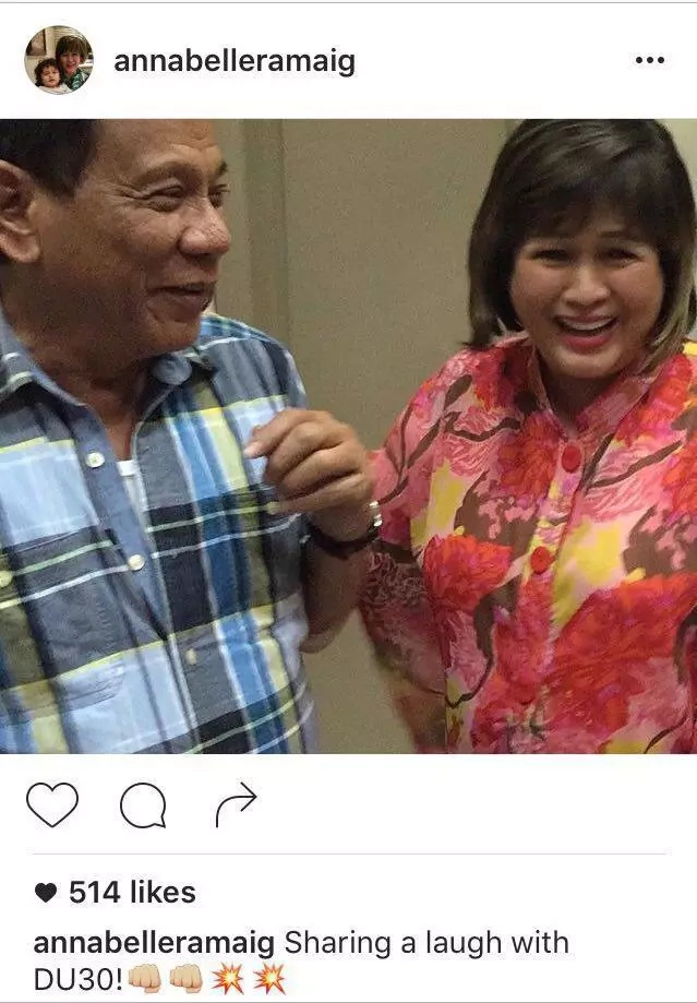 Annabelle Rama proud of Rodrigo Duterte