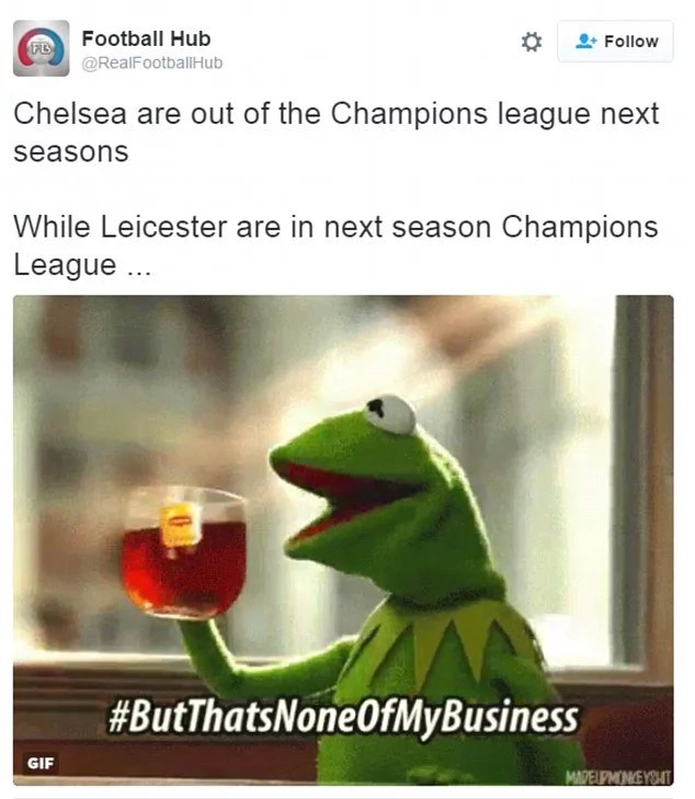 Twitter fans poke fun at Chelsea after they were knocked out of Champions League