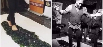 For a good cause! Magician set to walk 32km barefoot on broken glass to raise funds for autism